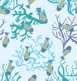 Fish in sea underwater pattern seamless texture vector