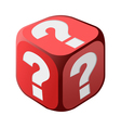 Dice with question marks vector