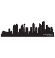 Calgary canada skyline detailed silhouette vector