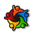 Team hi5 with black background logo design element vector