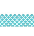 Abstract blue fishscale horizontal seamless vector