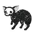 Small dog tattoo vector