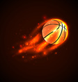 Basketball on fire vector