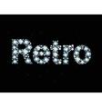 Diamond word retro vector