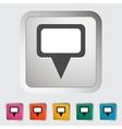 Map pin single icon vector