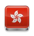 Metal icon of hong kong vector