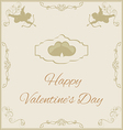 Valentines day in vintage style vector
