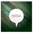Wooden background with speech bubbles paper stick vector