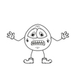 Despair emoticon sketch vector