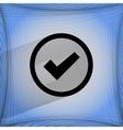 Check mark flat modern web design on a flat vector
