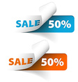Blue and orange sale coupons 50 discount vector