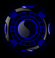 Round futuristic design with black and blue color vector