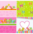 Cute scrapbook butterfly backgrounds vector