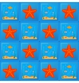 Tile pattern with sea and starfish vector