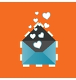 Icon love heart letter eps vector