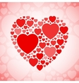 Red and white heart shape vector