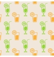 Seamless background with glasses of juice vector