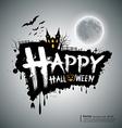 Happy halloween message design vector