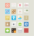 Multimedia web and mobile app icons vector