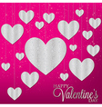 Hanging heart filigree charms in format vector