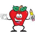 Cartoon apple student vector