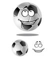 Happy cartoon soccer or football ball vector
