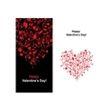 Valentine card with heart shape for your design vector