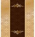 Vintage gold ornament vector