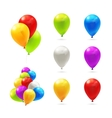 Toy balloons set of icons vector