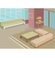 Living room scene interior vector