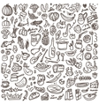 Natural food - doodles set vector