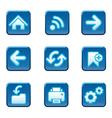 Web navigation buttons set vector