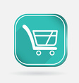 Cart online store color square icon vector