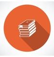 Abc books icon vector