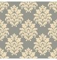 Vintage floral beige seamless pattern vector