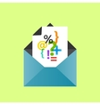 Icon open envelope with a letter eps10 vector