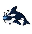Happy cartoon orca or killer whale vector