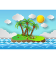 Palm with island vector