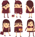 Lady icons vector