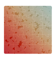 Gradient field of puzzles with spots vector