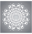 Circle ornament round ornamental geometric pattern vector