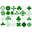 Set of different clovers set vector