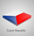 European flags set - czech republic vector