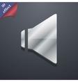 Speaker volume icon symbol 3d style trendy modern vector