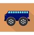 Blue truck vector