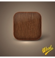 Background with wood texture icon template vector