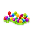 Toy balloons vector