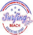 Surf rider text design vector