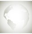 Dotted world globe light design vector