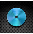Compact disc on a metallic background vector